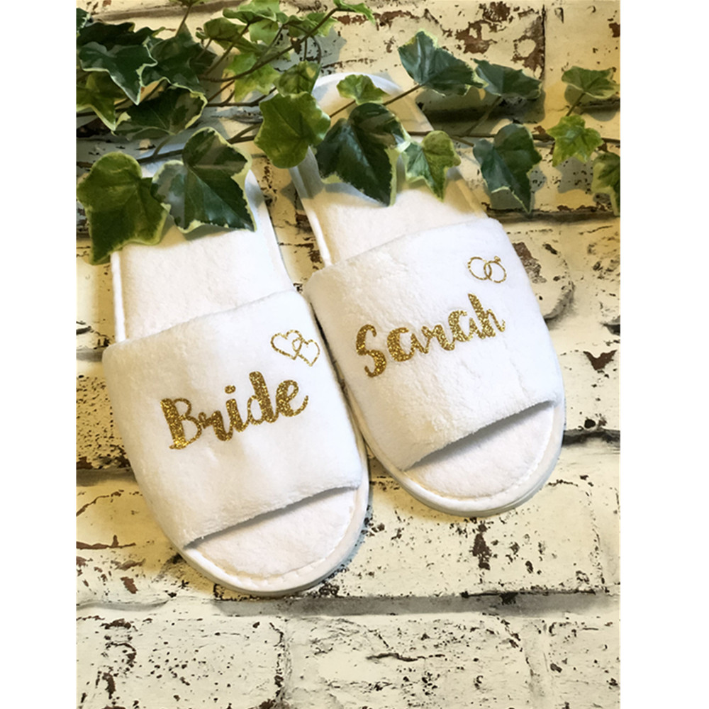 Gift Bag Personalised Dressing Gown Eye Mask Headband Bride Wedding Slippers