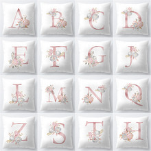 A-Z Pillow Cover 45x45cm Room English Alphabet For Home goods 1PC Polyester Pillowcase new