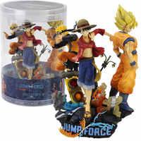 28cm Jump Kraft Dragon Ball Naruto One Piece Action Figure Spielzeug Sammeln Modell Puppen Luffy Uzumaki Sohn goku Anime zeichen