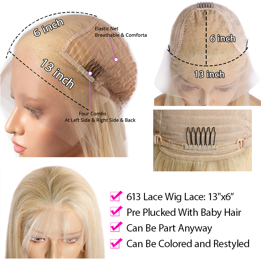 613 Lace Frontal Wig Honey Blonde Lace Front Wigs    30 Inch Body Wave Lace Front Wig Bob Wig 6