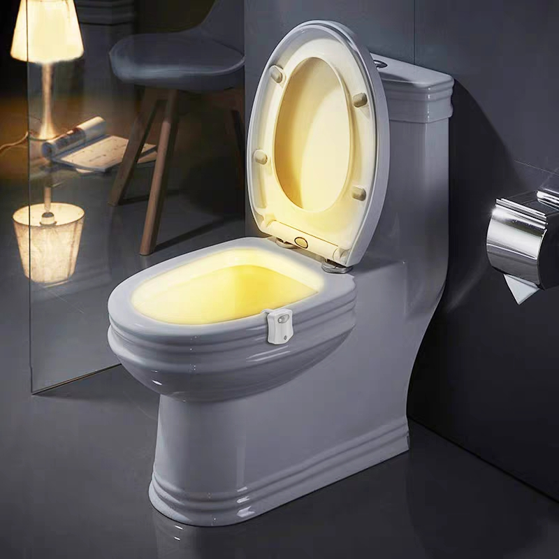 Smart PIR Motion Sensor Toilet Seat Night Light 8 Colors Waterproof Backlight For Toilet Bowl LED Luminaria Lamp WC Toilet Light