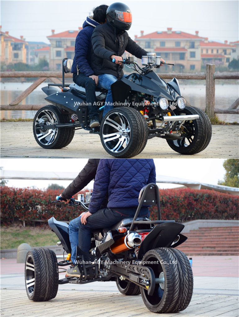 AGY winch supported 3 wheel trike/petrol motorcycle