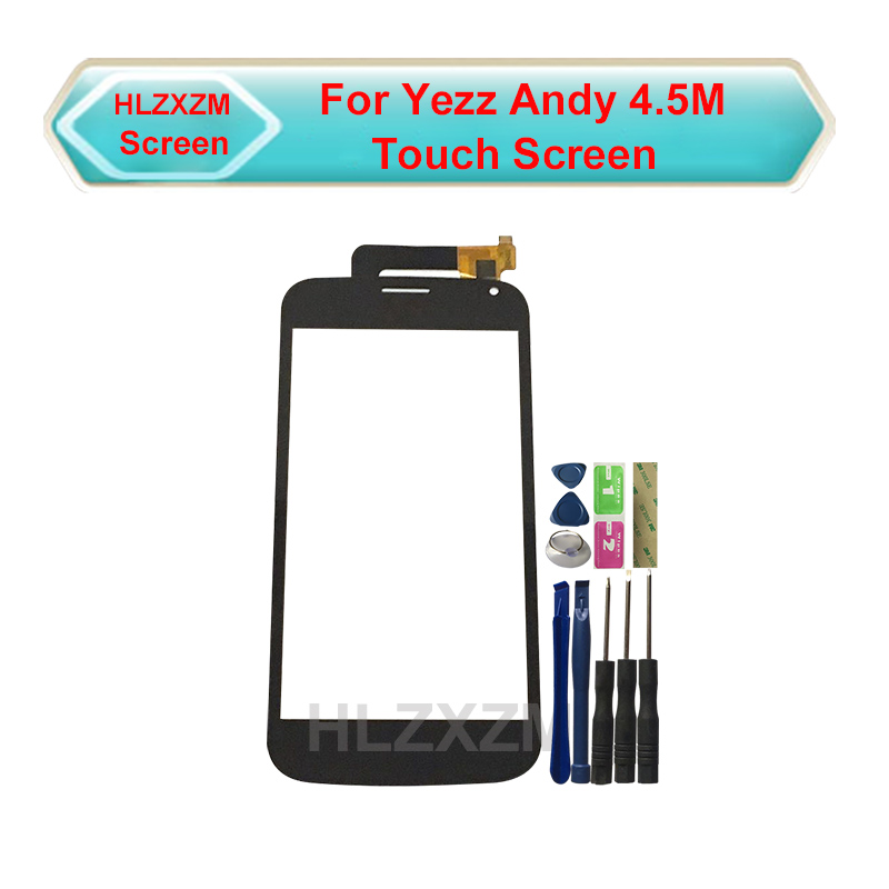 For Yezz Andy 4.5M <font><b>Touch</b></font> Panel No <font><b>LCD</b></font> Display Digitizer Replacement <font><b>With</b></font> Tools <font><b>Touch</b></font> Screen <font><b>4.5</b></font> <font><b>Inches</b></font> image