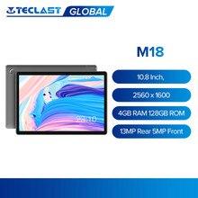 Teclast m18 tablet 10.8 Polegada ips 2560x1600 deca núcleo 4gb ram 128gb rom 4g chamada de rede câmera dupla 13mp traseira 5mp frente 8000mah