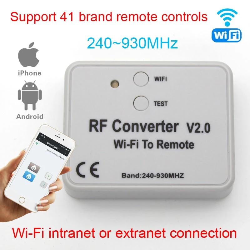 Wifi To Remote Rf Converter Switch Garage Door Controller Garage Door Opener App Remote Control Wifi Garage Gate Door Remote 433 Door Remote Control Aliexpress