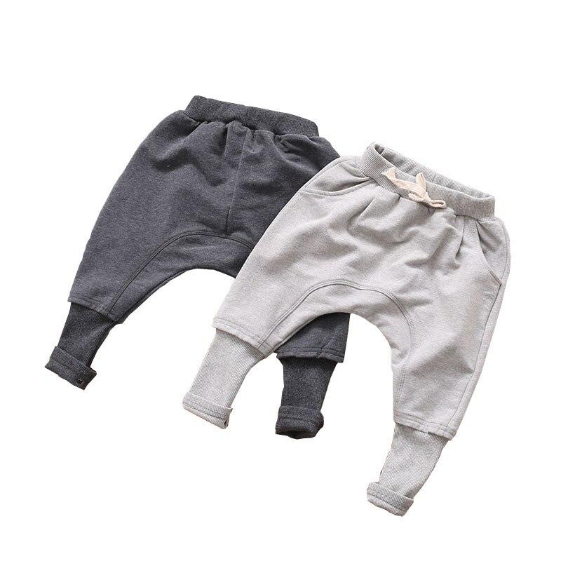 Штаны для мальчиков, детская одежда на весну и осень, детские штаны для мальчиков, брюки для девочек, шаровары, серые, черные однотонные, 2020 х...