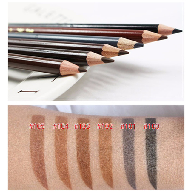 6 Colors Eyebrow Pencil Long-Lasting Eye Brow Tattoo Tint Liner Pen Waterproof Eyebrow Enhancers Professional Makeup Tool TSLM1 1