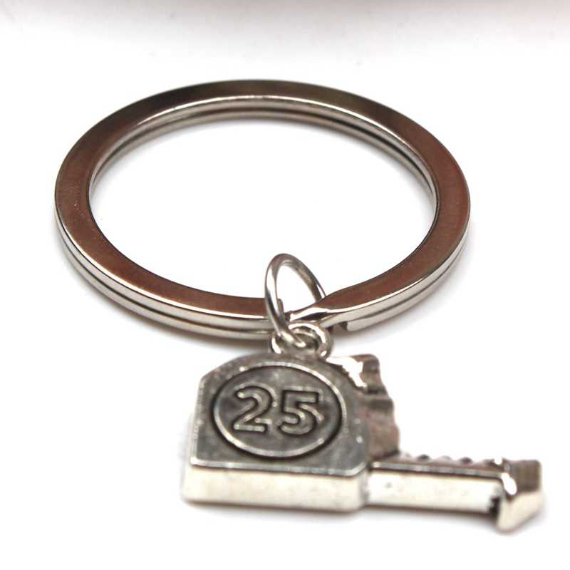 רטרו אופנה אוטומטי Keychain מיני ברגים, פלדת שליט, מסור, תליון סגסוגת רכב Keychain אבא יום מתנה למזכרת