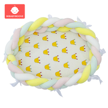 Get more info on the 80*50cm Portable Baby Bionic Nest Bed Foldable Multifunctional Newborn Baby Cribs Cradle Removable Infant Travel Bed with Bumper