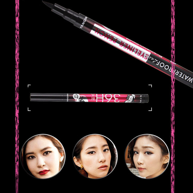 Hot Sale YANQINA Ultimate Black Liquid Eyeliner Long-lasting Waterproof Eye Liner Pencil Pen Nice Makeup Cosmetic Tools 4