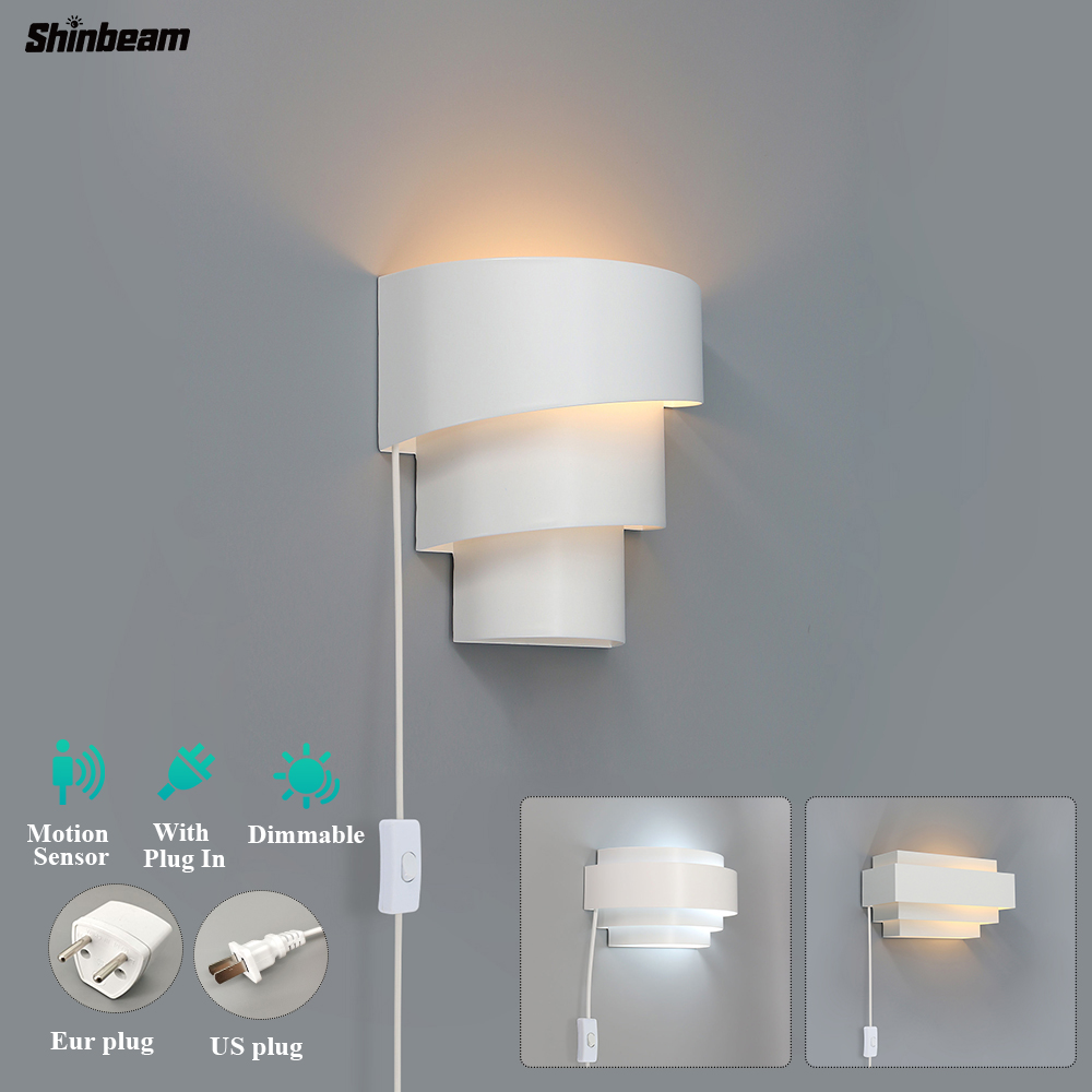 Decorative Plug In Indoor Wall Sconce