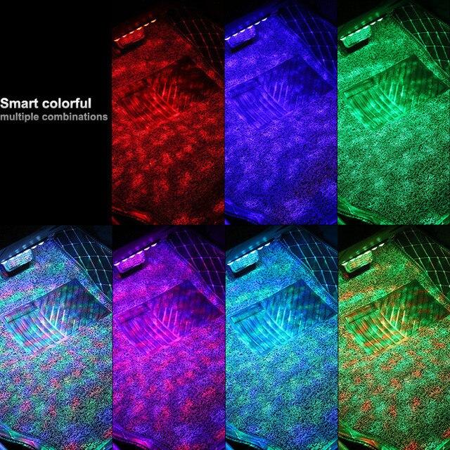 4*6 LED RGB Car Interior Atmosphere Strip Light for BMW G01 G30 F11 F15 F31 F34 E36 E39 E46 E60 E87 E91 X5  X6 Decoration Lamp