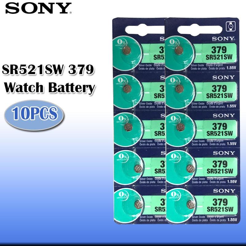 SONY 2 Piles 1.55V 379 oxyde d/'Argent  AG0 SR63 V379 SR521SW