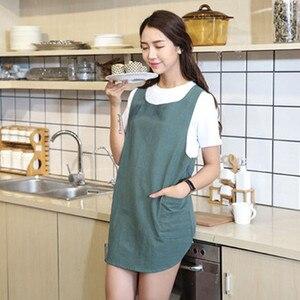 Grembiule Da Cucina Antivegetativa Lavori Domestici di Cottura Domestica Delle Donne Del Cotone di Lino Cross Back Grembiule Giapponese Avvolgere Grembiuli Grembiule Da Cucina