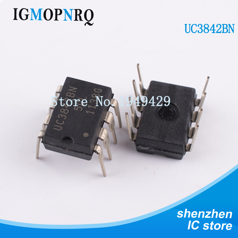 10PCS UC3842BN DIP8 UC3842B UC3842 Switch controller 0.5mA Current Mode New