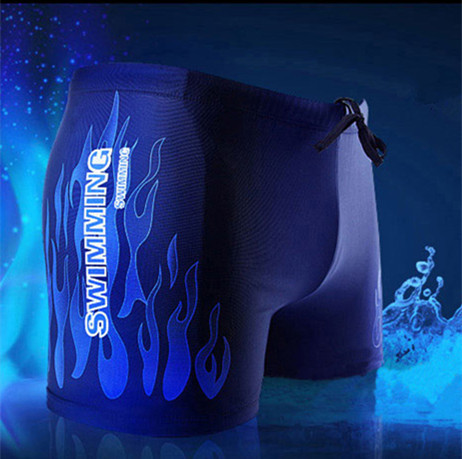 Extra-value Special Offer MEN'S Swimming Trunks Flame Pattern Fashion Boxer Swimming Trunks Bubble Hot Spring Swimming Trunks ME