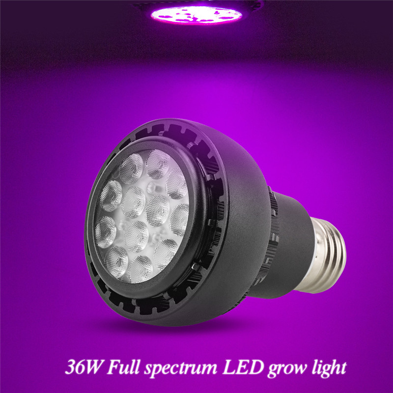 Plants Lamp LED Grow Light 36W Full Spectrum LED Bulbs E27 12 Leds Seedling Phytolamps Fitolamp For Plant Lighting Flower Lamps
