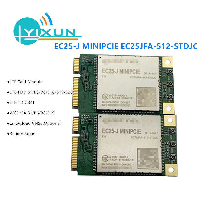 EC25-J EC25 EC25JFA-512-SJC FDD-LTE/TDD-LTD UMTS/HSPA+ Mini Pcie LTE CAT4 4G Module For Japan Band B1/B3/B8/ B18/B19/B26 B41