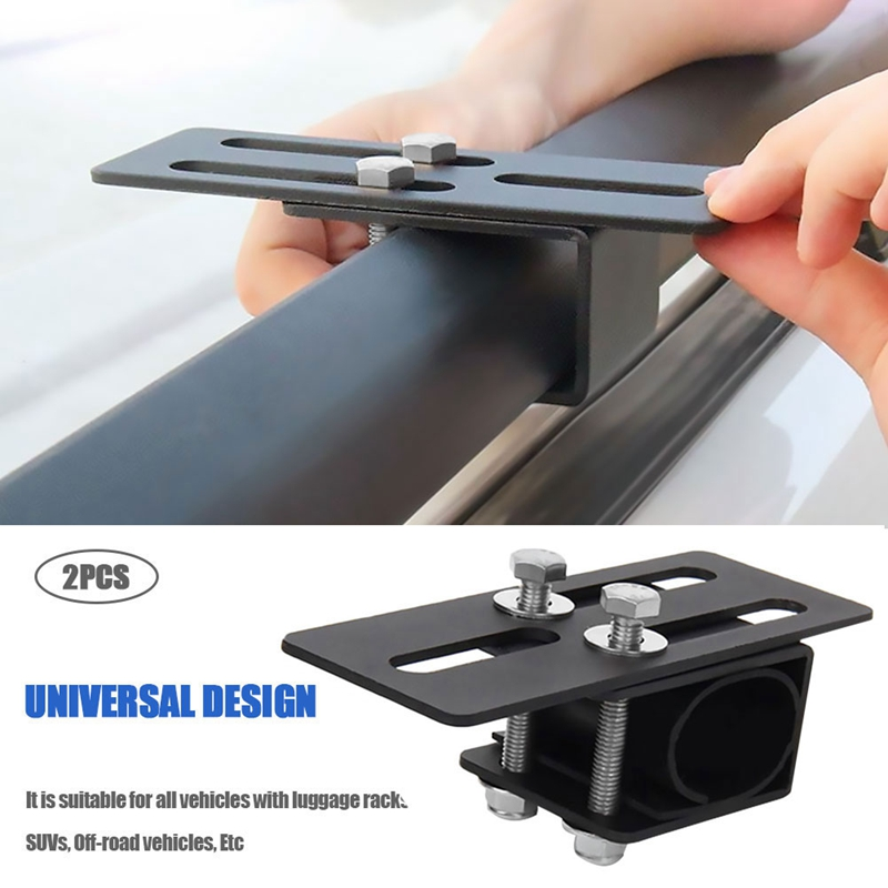 Universal Car Luggage Mounting Bracket Vehicle Spotlight Strip Light Stand Roof Bag Rack Easy to Install for SUV Off Road Vehicl