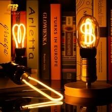 все цены на 3D LED Lamp Edison Light Bulb E27 A60 Bottle CT G80 G95 G125 Heart 220V Soft LED Filament Lamp For Pendant Lamp Holiday Decor
