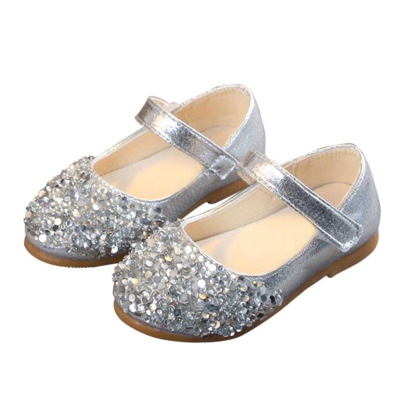 Fashion Baby Girls Flat Dress Party Shoes Children Toddler Kid Rhinestone Princess Shoes