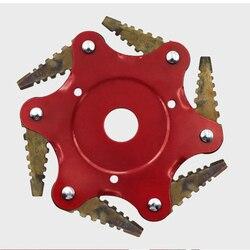 6 zębów przycinarka do trawy głowa kosa do zarośli głowica stalowa Strimmer ostrze do kosiarki pielenie trawnik maszyna narzędzia ogrodnicze akcesoria akcesoria