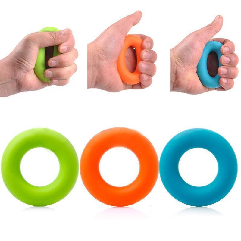 1pc Silicone Hand Grip Gripping Ring Carpal Expander Finger Exerciser Trainer Grip Strength Rehabilitation Pow Stress Ring Ball