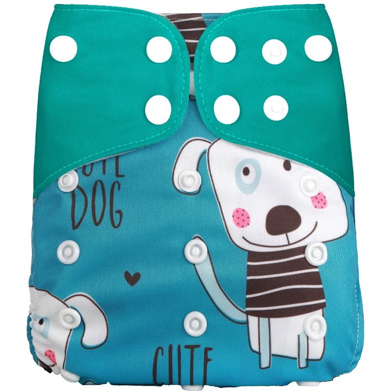 [Simfamily] 1 шт. многоразовые тканевые подгузники, регулируемые детские подгузники, моющиеся подгузники, подходят для 3-15 кг детские подгузники - Цвет: NO4