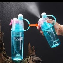 Novo esportes garrafa de água 400/600ml beber garrafa agitador portátil plástico bicicleta ao ar livre garrafa de água escalada minhas garrafas de água
