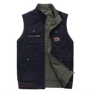 Image 3 - Erkekler askeri giyim yelek ordu taktik birçok cepler yelek kolsuz ceket artı boyutu 6XL 7XL 8XL 9XL büyük erkek seyahat ceket