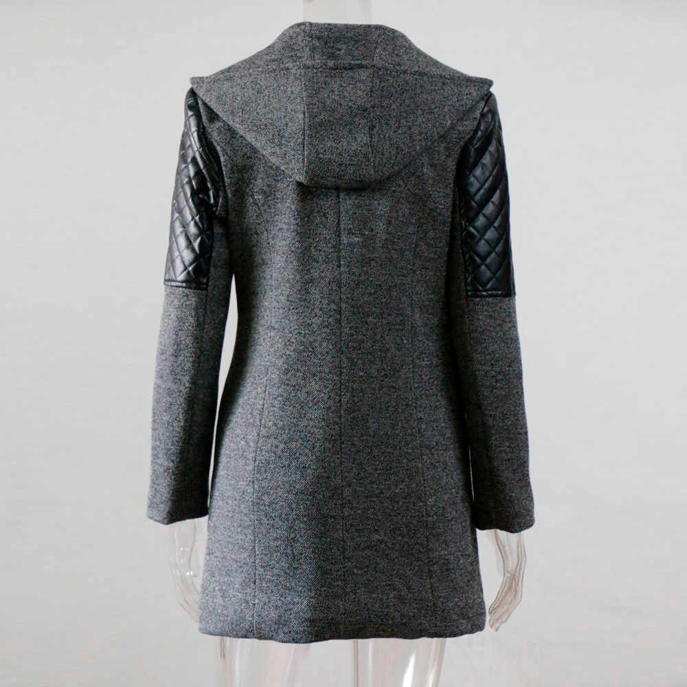 女子ウォームジャケット厚いパーカーオーバーコート冬生き抜くフード付きジッパーコートプラスサイズ S-5XL