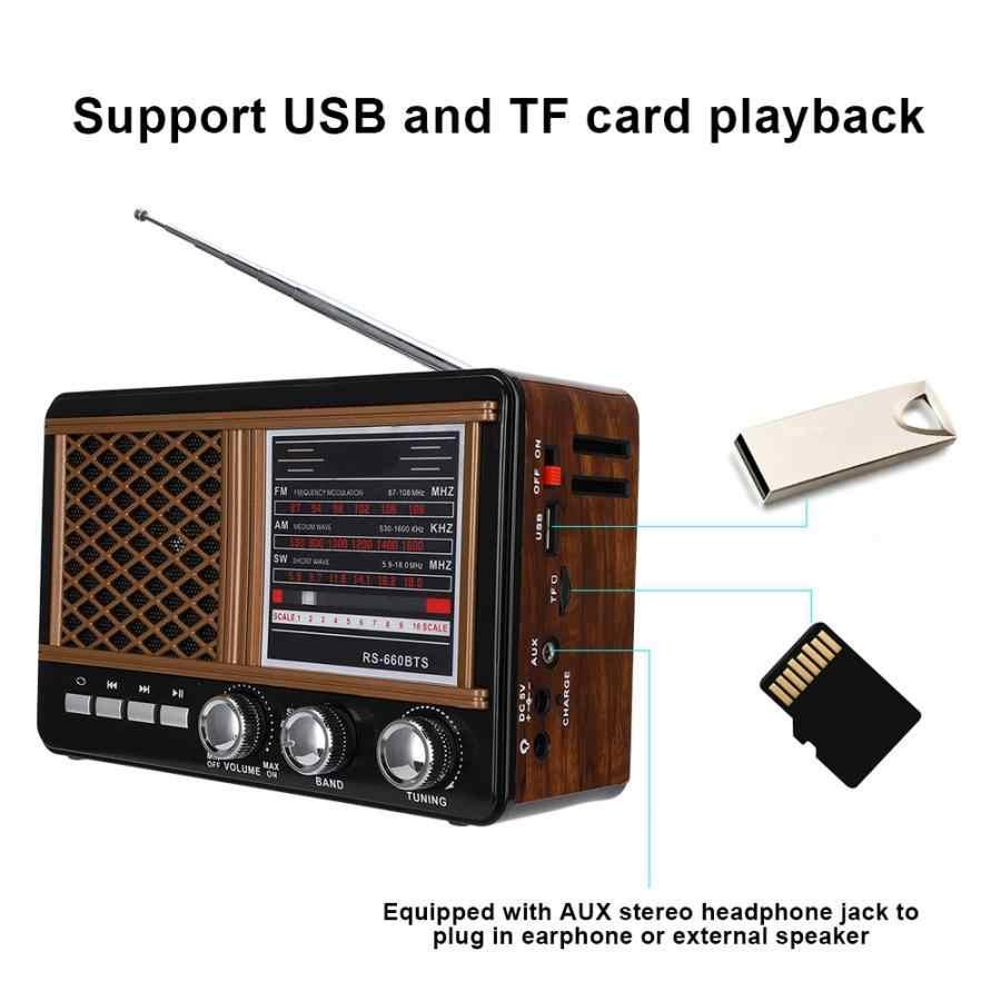 Taşınabilir güneş çoklu Band FM/AM/SW Bluetooth kart Plug-in radyo (ab tak 220V -240 V) mini radyo teleskopik anten