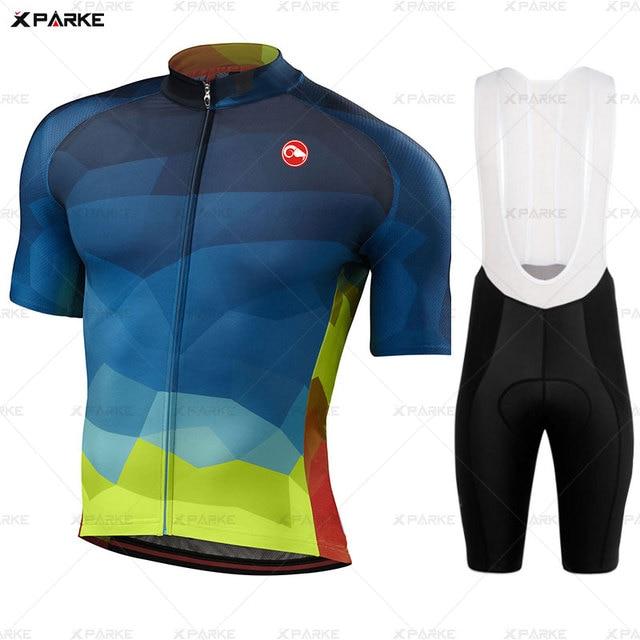 Conjunto camisa da bicicleta de estrada roupas ciclismo verão mtb roupas da equipe dos homens manga curta uniforme triathlon skinsuit ropa hombre 2020 3
