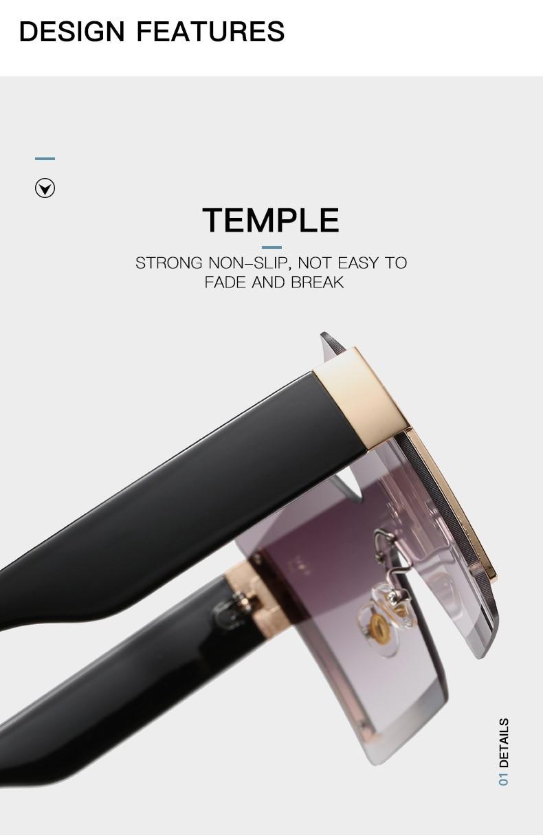 Luxury Brand Women's Sunglasses Square Sunglass Lady Designer 2021 trend Cool Vintage Retro Sun Glasses Rimless Shades For Women (3)