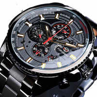 Winner Three Dial Calendar Display Alloy Men Automatic Mechanical Skeleton Wrist Watches Luxury Brand Military Sport Male Clock