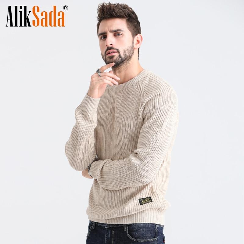 Aliksada Men's 2020 New Autumn Classic Warm Casual Acrylic Sweater Pullovers Men Winter Fashion Dresses O-Neck Sweaters Coat Men