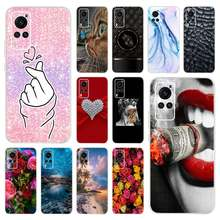 Dla VIVO X60 5G przypadku VIVO X60 Pro Slim miękkie Fundas miłość serce wzory pokrywa silikonowa dla VIVO X60 V2046A X 60 2020 telefon muszle