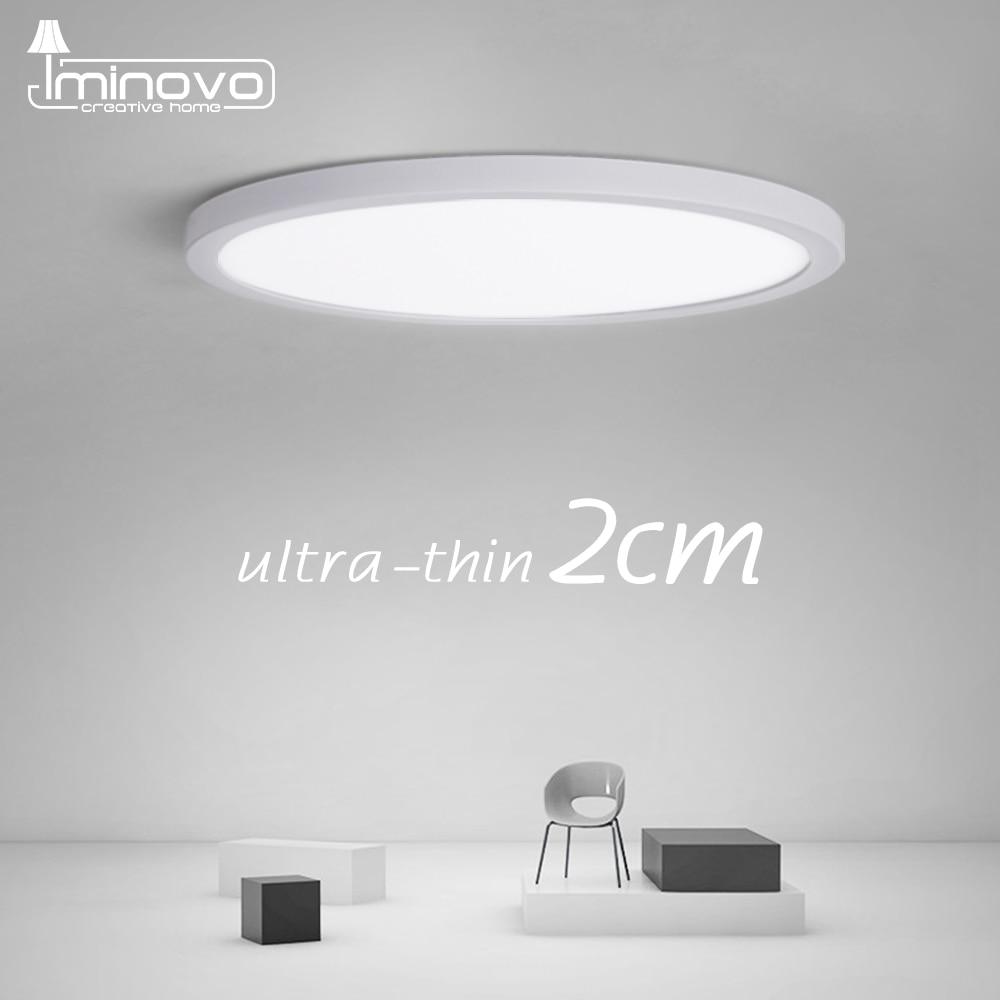 Ultra fino led luz de teto 2cm superfície da lâmpada montado iluminação do painel nivelado 24w 28 38 48 cozinha quarto sala estar 110v 220v