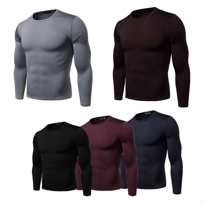 Long Men's Cotton Underwear Johns Underwear Thermal Underwear For Men Thermo Shirt Men Down Winter Warm Suit Tight Tops
