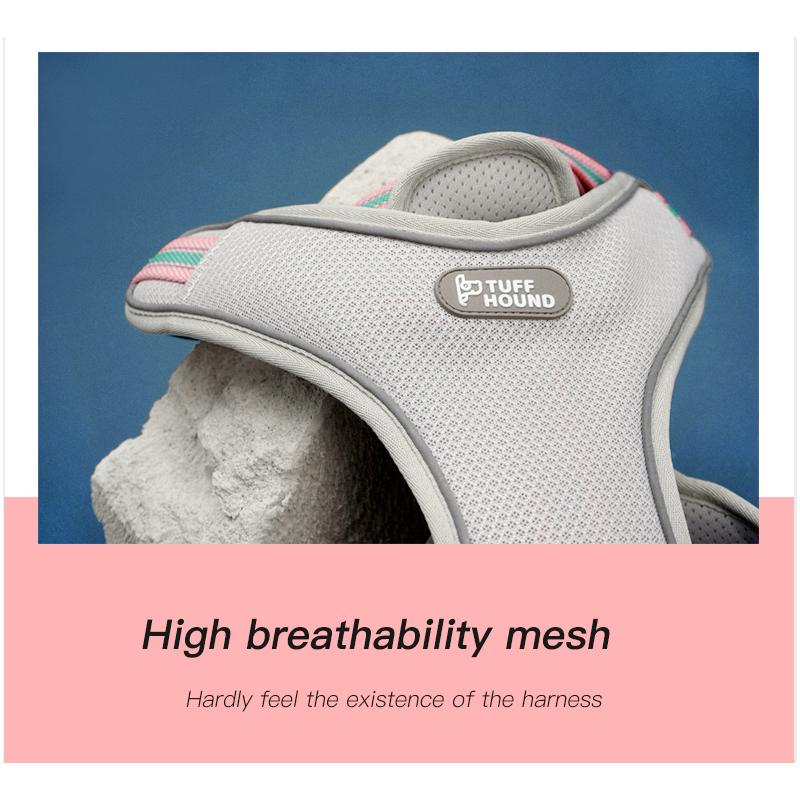 Купить с кэшбэком TUFF HOUND Dual Drytek Air Mesh Harness Bright Colors No Pull Dog Harness Breathable Mesh Suit for Small Medium Large Dogs