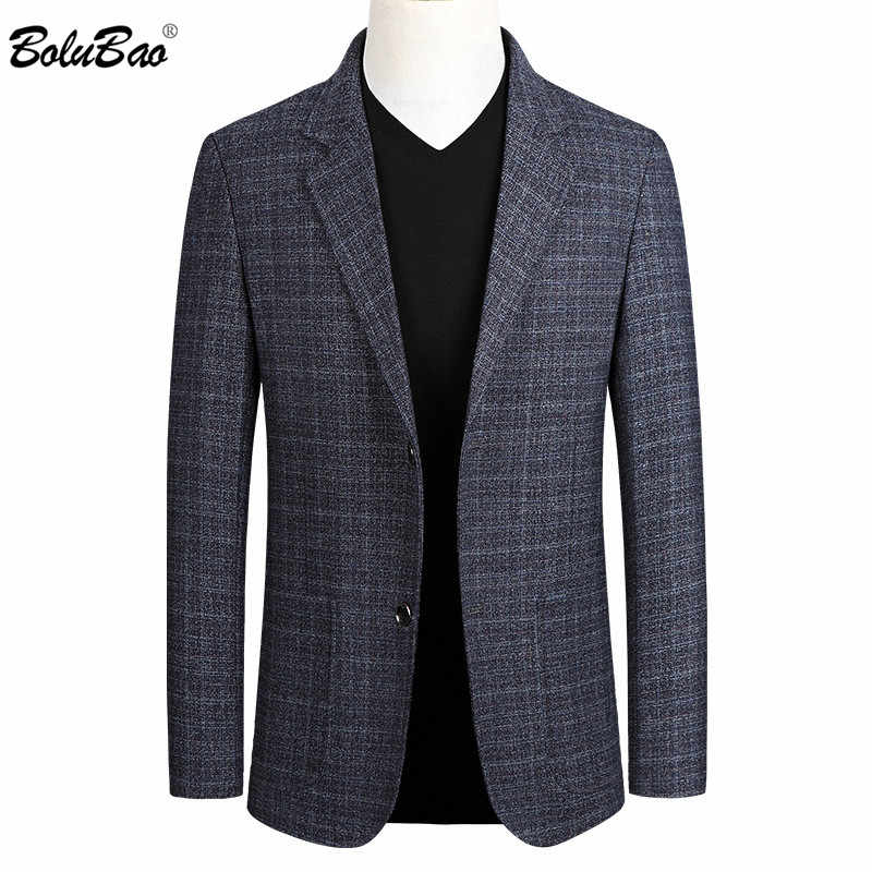 Bolubao Mannen Casual Blazers Trend Merk Chinese Stijl Mannen Slim Fit Wild Pak Fashion Business Dress Blazer Mannelijke