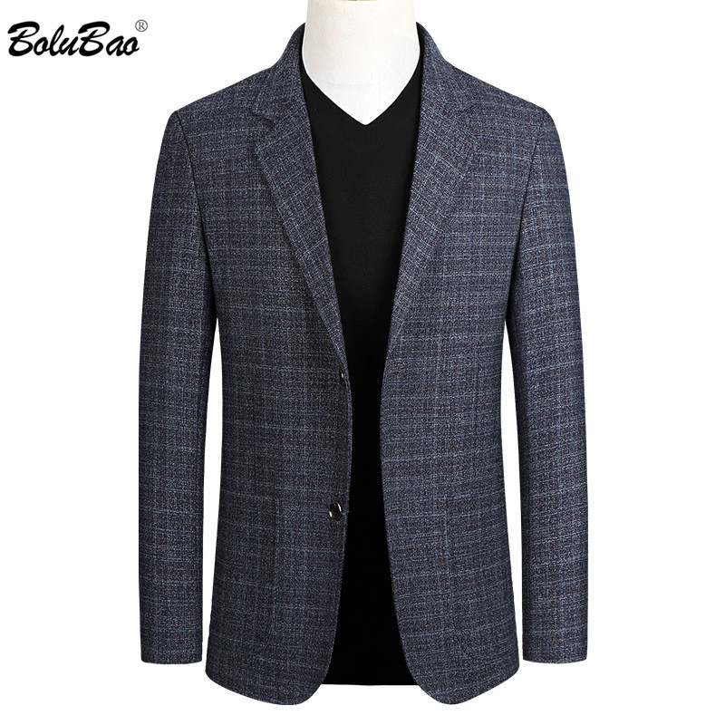 BOLUBAO Men Casual Blazers Trend Brand Chinese Style Men's Slim Fit Wild Suit Fashion Business Dress Blazer Male