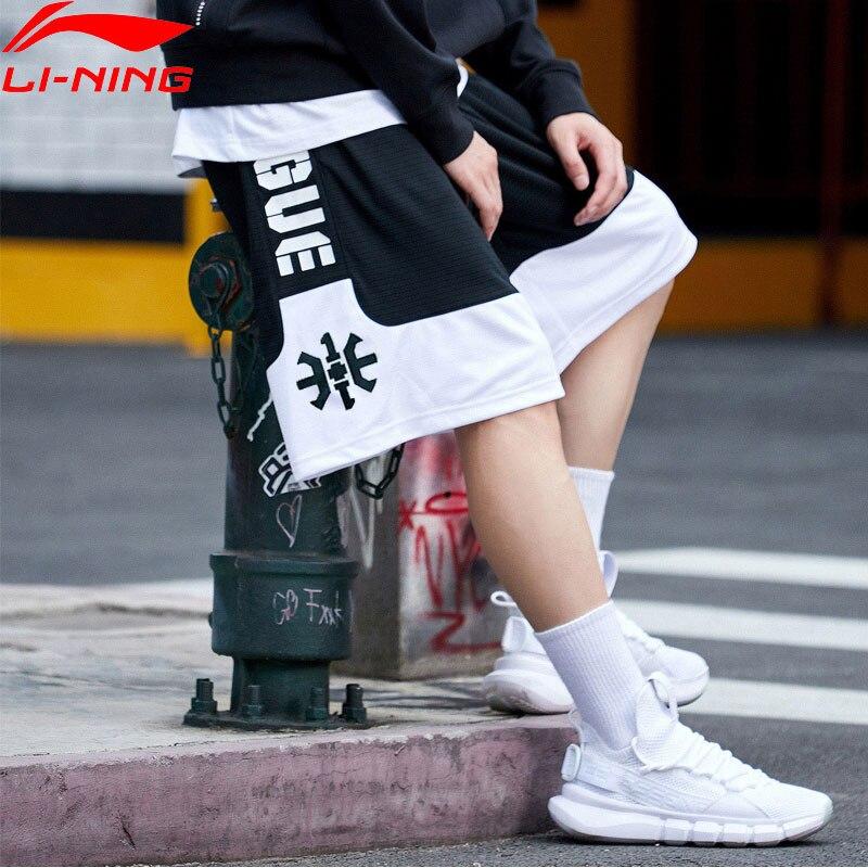 Li-ning mężczyźni złe pięć spodenki do koszykówki konkurs luźny krój poliester oddychająca podszewka Li Ning spodenki sportowe AAPN041 MKD1549