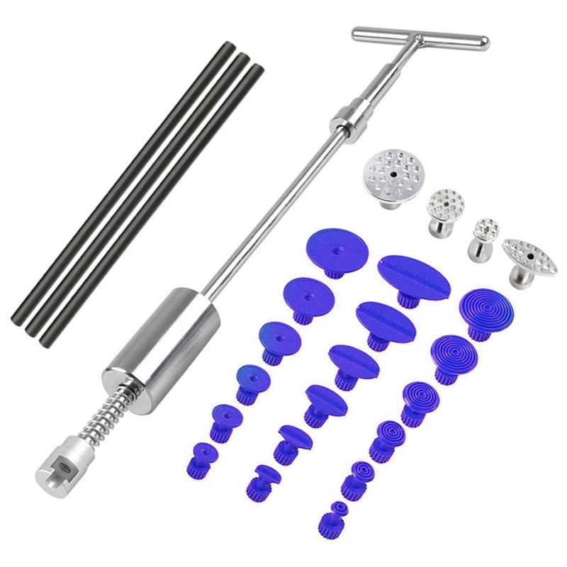 Tools Paintless Dent Repair Slide Hammer Reverse Hammer Dent Puller Suckers Suction Cup Glue Tabs Tools Kit 26Pcs/Set