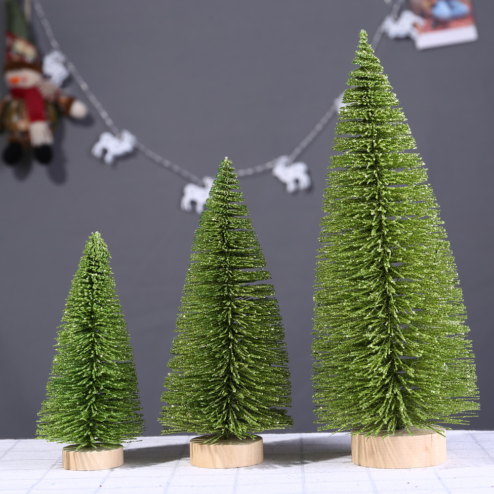 mini kerstboom 2020 Solid Green Christmas Tree For Home 15/20/25/30cm Mini Light Green