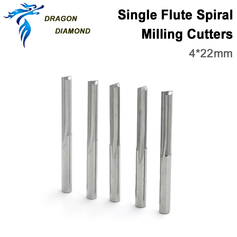 5pcs Carbide End Milling Cutting double flute CNC router Wood bits 6mm x 25mm