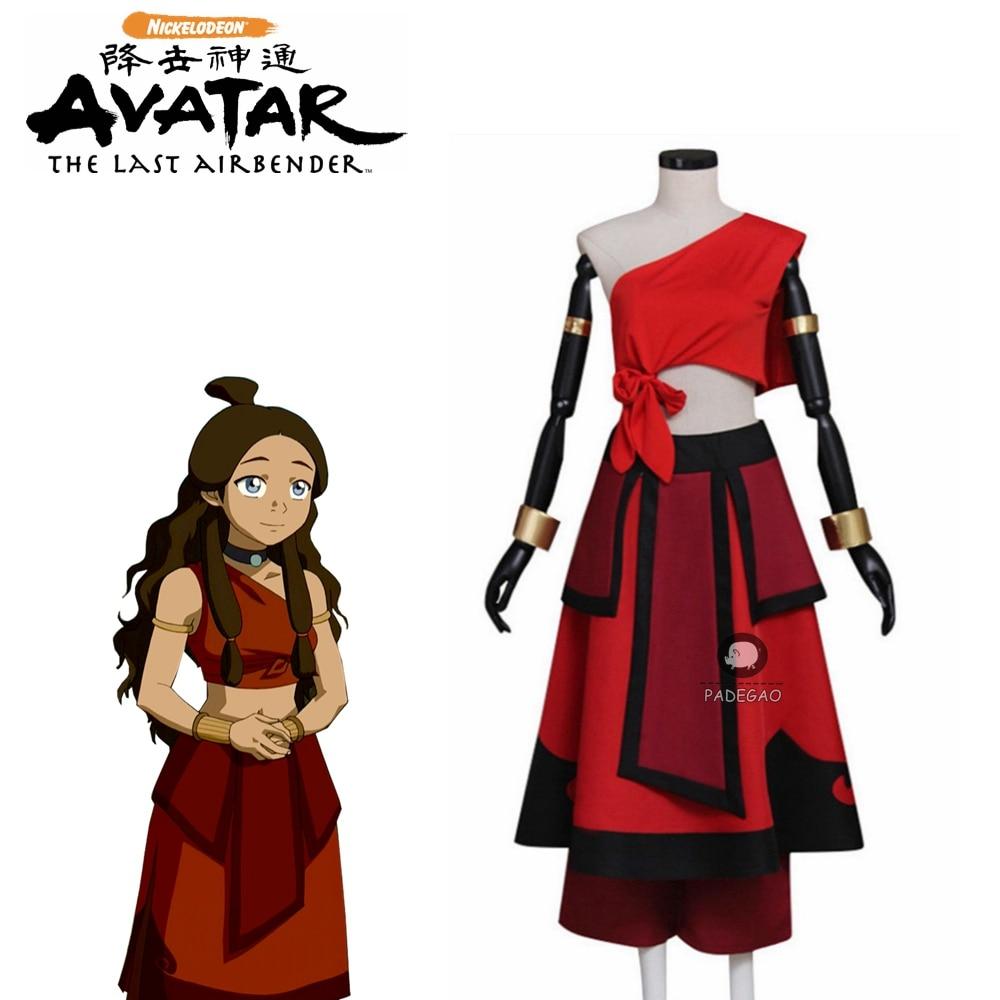 Avatar The Last Airbender Katara Cosplay Costume Adult Female Outfit Custom Made Halloween Costume