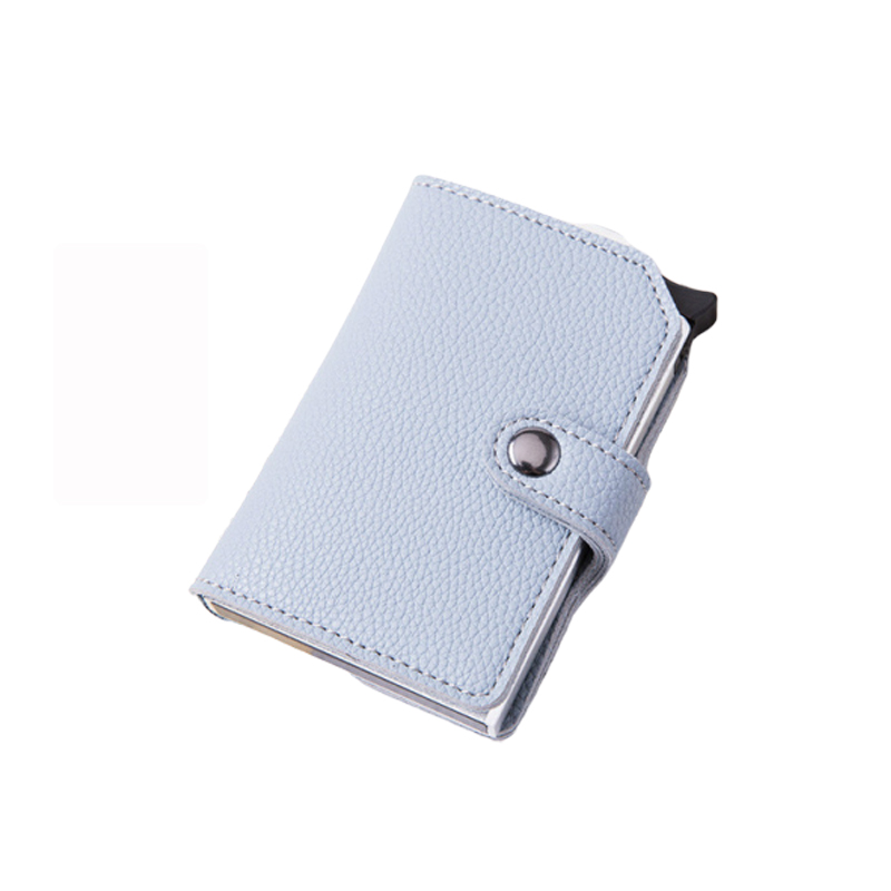 Bycobecy  Anti-theft Bank Credit Card Holder Women Creditcard Slim Rfid Passes Metal Wallet Business Secure Id Card Protection