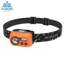 AONIJIEน้ำหนักเบากันน้ำไฟหน้าSensitive LEDไฟหน้าไฟฉายSensor Light E4031สำหรับวิ่งตกปลาCamping Hiking