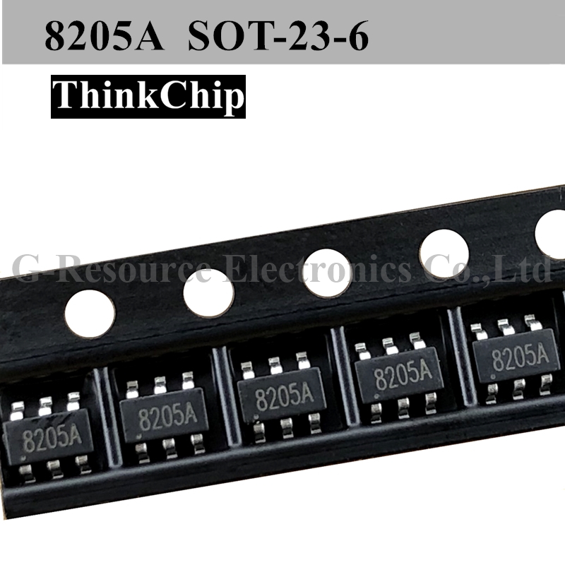 (20 Pcs) 8205A SOT-23 8205 SMD Lithium Battery Protection Chip New Original